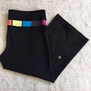 Lululemon Crop Pants Black Multicolor Size 10